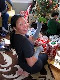 Yoko on Christmas morning