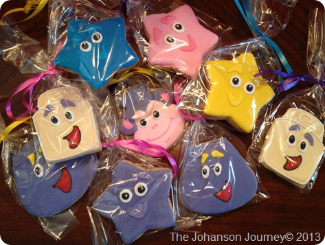 The Johanson Journey Dora Party Custom Dora Friends Cookies-Favors