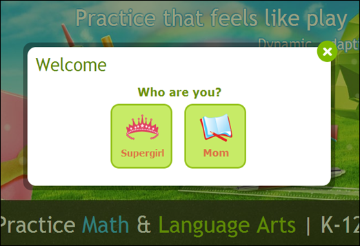 sign in screen shot IXL