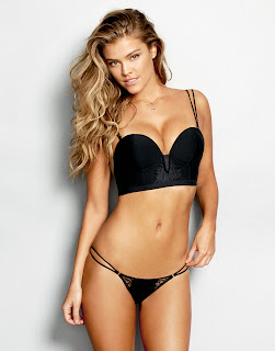Nina Agdal in Lovely Black Transparent Lingerie ifor Your Lovely Dreams Sexy ass Cleavages Boobs