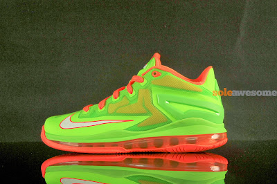 nike lebron 11 low gs volt bright orange 1 05 Nike Lebron XI Low GS in Bright Volt and Really Bright Orange