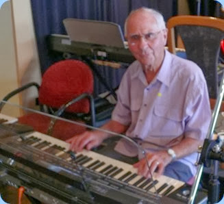 John Perkin playing the Korg Pa3X. Photo courtesy of Dennis Lyons