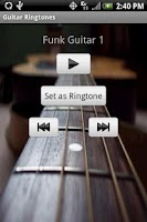 Screenshot of GUITAR Ringtones