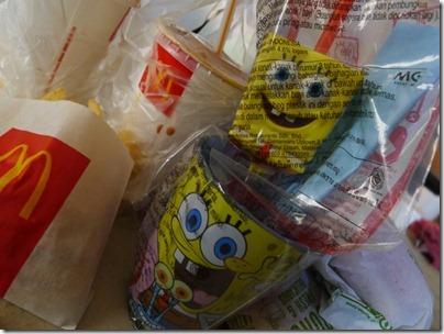 Spongebob cup & straw