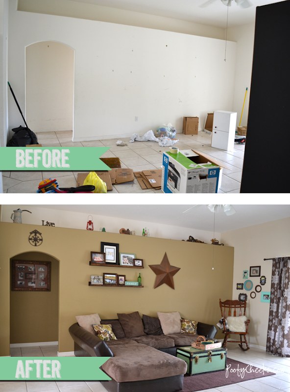 Living Room Before &amp; After