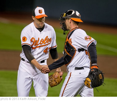 'Jim Johnson, Matt Wieters' photo (c) 2013, Keith Allison - license: http://creativecommons.org/licenses/by-sa/2.0/