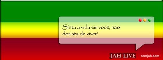 capa para fabook reggae frase Jah Live