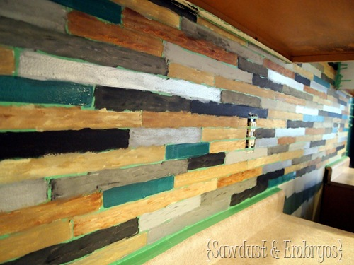 PAINTING your backsplash to look like TILE! {Sawdust & Embryos}
