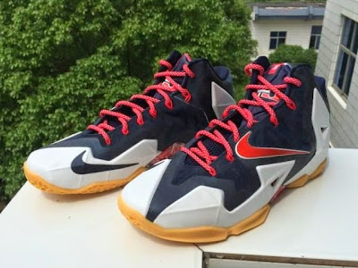 nike lebron 11 gr black white red mango 2 02 independence day This USA Themed Nike LeBron XI Drops on... Independence Day