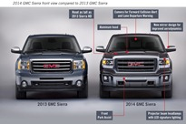 2014 GMC Sierra Front View Comparison