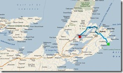 Louisbourg Motorhome RV Park & Campground to 9584 Hwy-105, Victoria NS - Microsoft Streets & Trips 782012 52853 PM