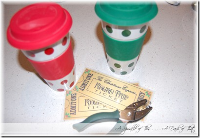 Polar Express Tickets and Hot chocolate {A Sprinkle of This . . . . A Dash of That}