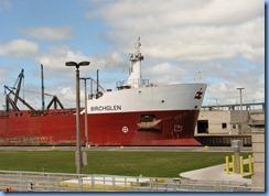 4985 Michigan - Sault Sainte Marie, MI -  St Marys River - Soo Locks Boat Tours - Canadian freighter Birchglen in Poe Lock as we exit the MacArthur Lock