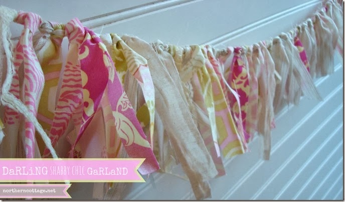 {Northern Cottage} darling shabby chic Garland Banner