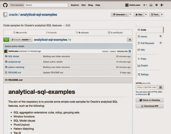 Analytical SQL scripts now on Github