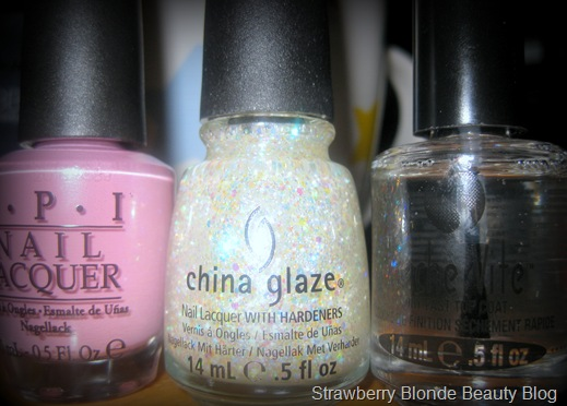 OPI, China Glaze Snow Globe & Seche Vite