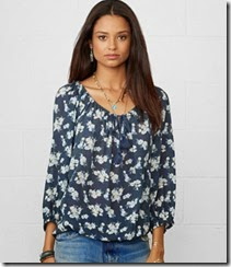 Ralph Lauren Printed Peasant Top