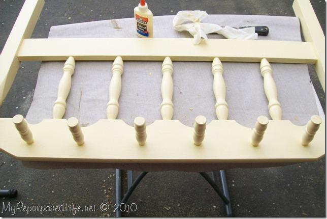 headboard and crib parts