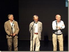 De Strangers: vlnr: John de Wilde, Alex Boeye en Bob van Staeyen