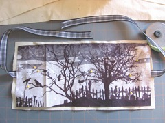 canvas Halloween fabric  cover assembled 4