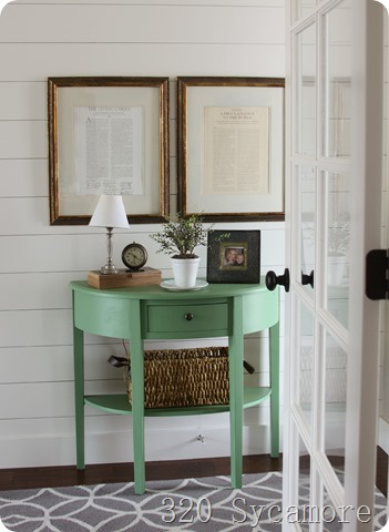 Painted furniture - green paint color