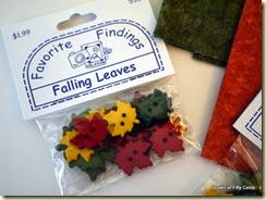 autumn leaf buttons