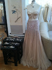 A major jawdropper: this stunning sequin embroidered silk tulle gown