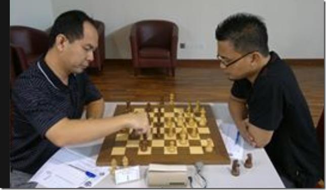 Mohd Saprin Sabri vs IM Mas Hafizulhelmi, Round 5, UPSI Open 2013