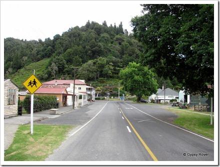 Whangamomona main street.
