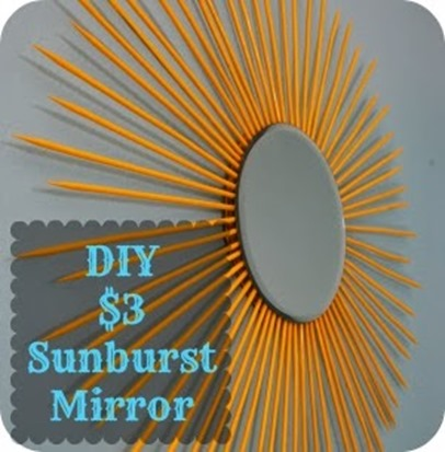 Sunburst mirror diy