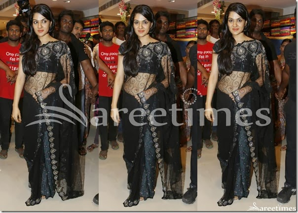 Sakshi_Chowdhary_Black_Net_Saree