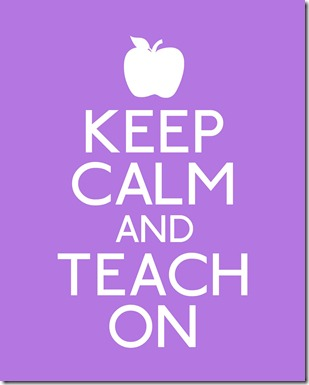 keep calm-teach on (purple)