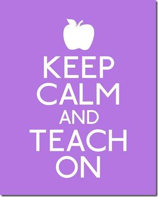 keep calm-teach on (purple)