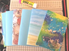 Art book April sea themed front cover and signatures3.2013