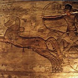 61 - Relieve del templo de Luxor con escena de batalla de Ramses II