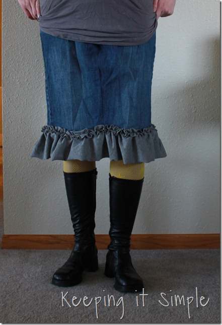 jean skirt refashion (5)