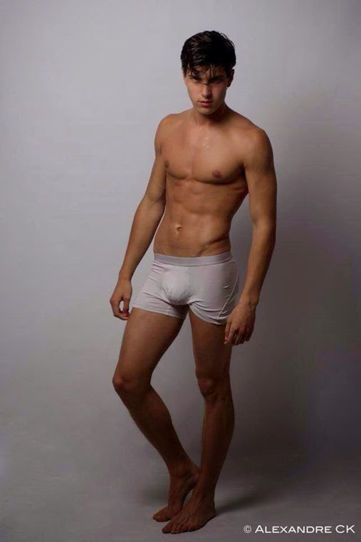 Romano Rossi Model in Gray Trunks