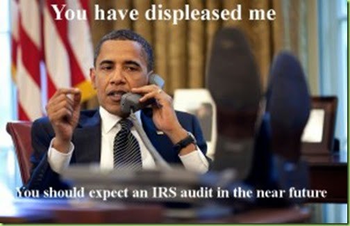 Obama-Irs displeased me