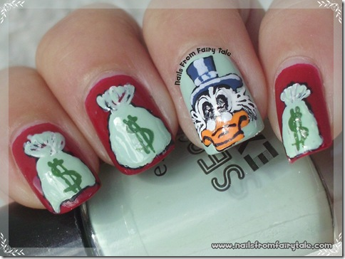 uncle scrooge nail art 5
