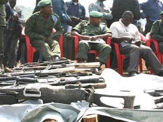Une opération de récupération d'armes de guerre dans une province de la RDC