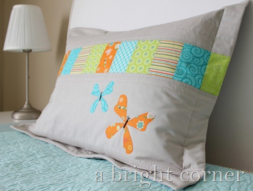 butterfly pillow sham
