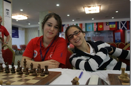 Gamze Nur Guney and Aleyna Yigit from Turkey Turkuaz Team