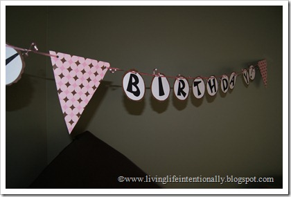 homemade birthday banner