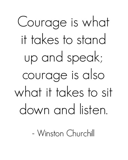 courage  winston churchill