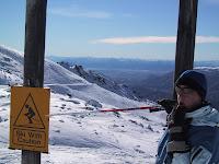Ski with caution!