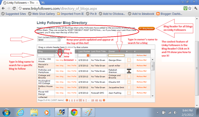 Linky Followers Directory