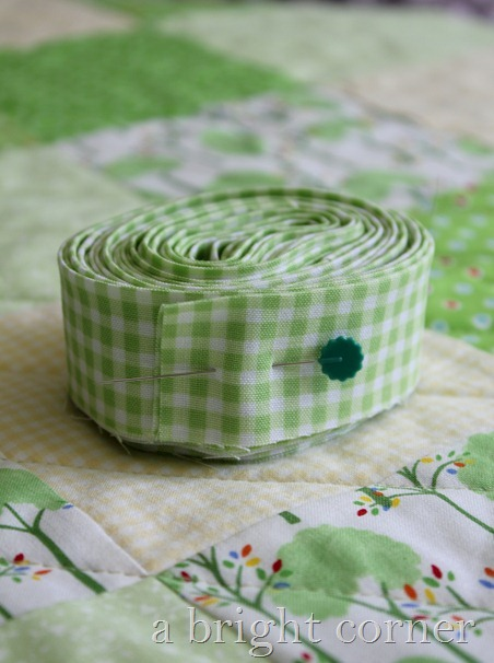 green quilt binding