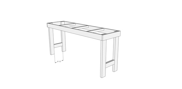 Craft Table Leg Supports