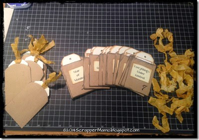 Pockets and Tags for Advent Journal