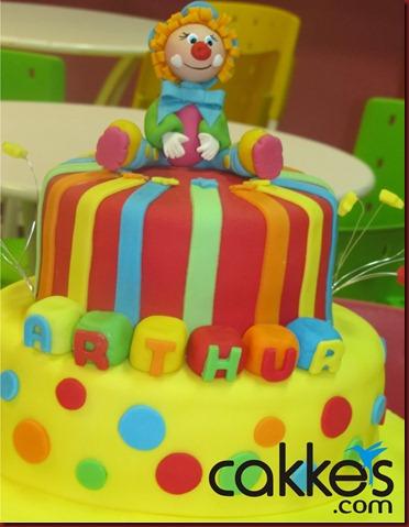 bolo circo, bolo palhaço, bolos decorados, bolos fabiana correia, bolos maceió-AL, cakkes 2